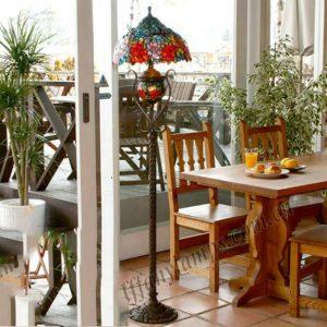 Đèn cây Tiffany Luxury Rose
