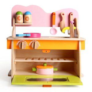 Bộ đồ chơi bếp gỗ nhỏ