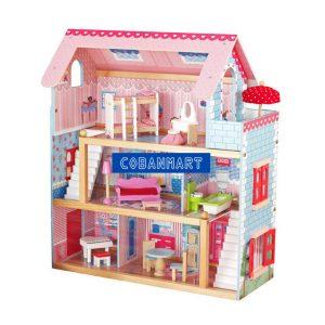 Bộ đồ chơi ngôi nhà bằng gỗ Pink Dream
