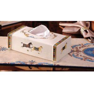 Hộp khăn giấy sứ ngựa