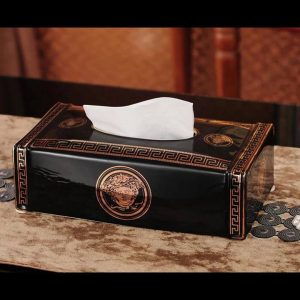 Hộp sứ đựng khăn giấy versace