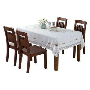 Khăn trải bàn ăn trắng cao cấp