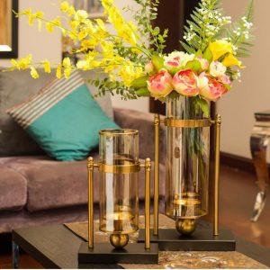 Lọ hoa chân nến Gold