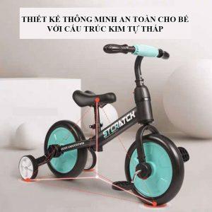 xe đạp xe chòi chân xe 4 bánh mini cho bé