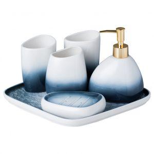 Bộ phụ kiện phòng tắm sứ Ombre